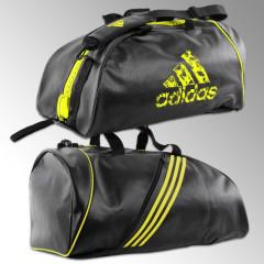 Sac de sport 2 en 1 Adidas - 65 Litres - Noir/Jaune