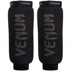 Venum Kontact Shinguards - Without Foot -Black/Black