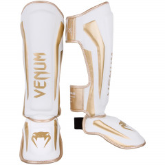 Venum Elite Standup Shinguards - White/Gold