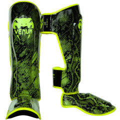 Venum Fusion Shinguards - Neo Yellow/Black