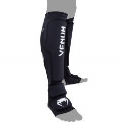 Venum Kontact Evo Shinguards - Black