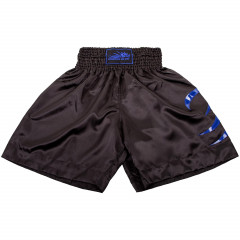 Short de Boxe Anglaise Dragon Bleu - Black