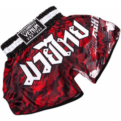 Venum Tecmo Muay Thai Shorts - Red/White