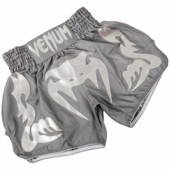 Venum Bangkok Inferno Muay Thai Shorts-Grey/Grey