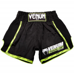 Venum Training Camp Muay Thai Short - Black/Neo Yellow
