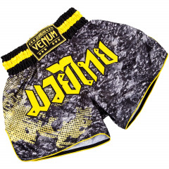 Venum Tramo Muay Thai Shorts - Black/Yellow