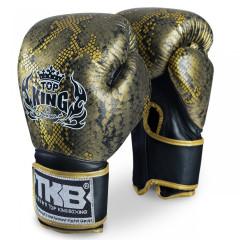 Gants de boxe Super Snake Noir/Or - Top King