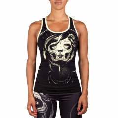 Venum Santa Muerte Tank Top - Black/Yellow