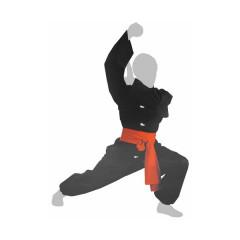 Kimono de Kung-Fu Boutons Blancs