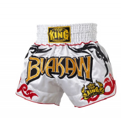 Short Muay Thai Buakaw Blanc Top King