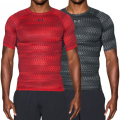 T-shirt compression imprimé manches courtes Under Armour HeatGear® Armour