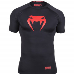 "VENUM ""CONTENDER"" COMPRESSION T-SHIRT - RED DEVIL - SHORT SLEEVES"