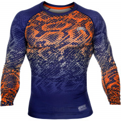 Venum Tropical Compression T-shirt - Blue/Orange