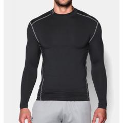 T-shirt de compression Under Armour ColdGear® Col montant - Noir