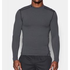 T-shirt de compression Under Armour ColdGear®  Col montant - Gris
