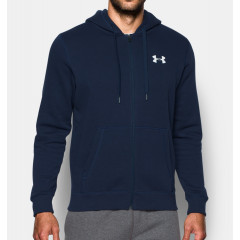 Sweat à capuche Under Armour Rival Fitted - Bleu Marine