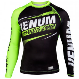 Venum Training Camp Compression T-shirt - Black/Neo Yellow
