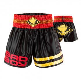 Short Muay Thai Bad Boy Tii Sok - Rouge/Noir/Or