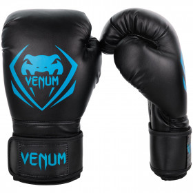 Venum Contender Boxing Gloves - Black/Cyan