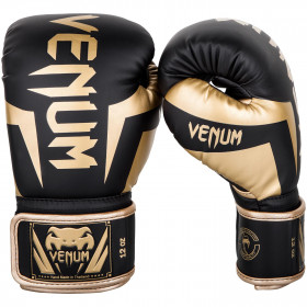 Venum Elite Boxing Gloves - Black/Gold