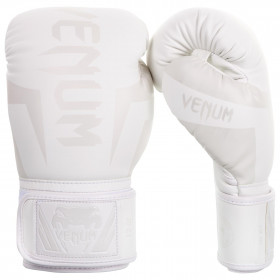 Venum Elite Boxing Gloves - White/White