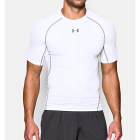 T-shirt de compression Under Armour HeatGear® - Manches courtes - Blanc