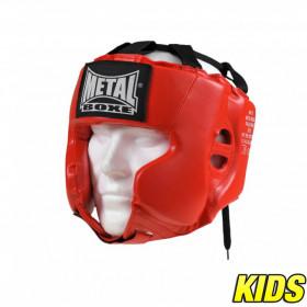 Casque Multiboxe Enfant Metal Boxe - Rouge
