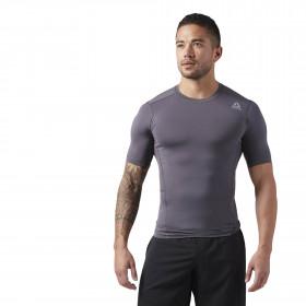 T-shirt de compression Reebok - Manches courtes - Gris