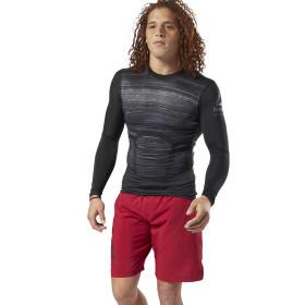 T-shirt de compression Reebok Activchill - Manches longues - Noir
