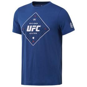 T-shirt Reebok avec motif UFC - Bleu