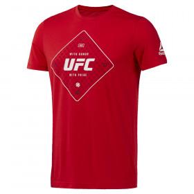 T-shirt Reebok texte UFC - Rouge