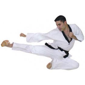 Dobok Master Black Collar - White