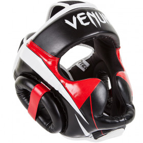 Venum Elite Headgear - Black/Red/Ice