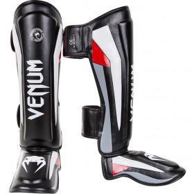 Venum Elite Standup Shinguards - Black/Red/Grey