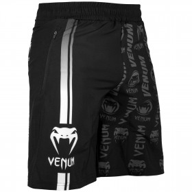 Venum Logos Fitness Shorts - Black/White