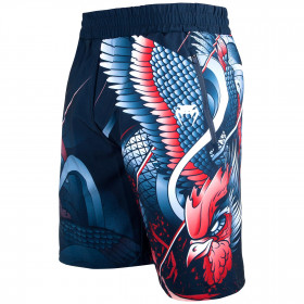 Venum Rooster Fitness Shorts - Navy Blue/Orange