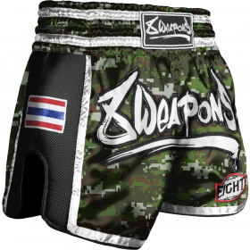 Short Muay Thai 8Weapons Super Mesh Camo