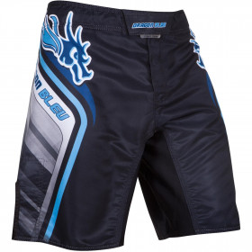 Fightshort MMA Dragon Bleu - Black