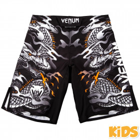 Venum Dragon's Flight Kids Fightshorts - Black/White