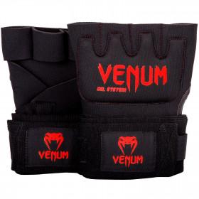 Venum Kontact Gel Glove Wraps - Black/Red