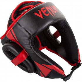Venum Challenger Open Face Headgear - Black/Red