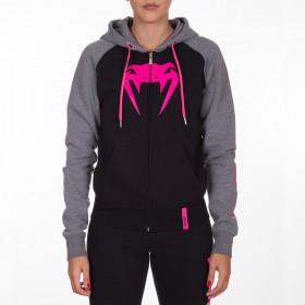 Venum Infinity Hoody with zip - Black/Grey - Pink logo