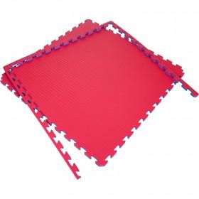 Puzzle mats 100x100x4cm (x5) - Red/Blue
