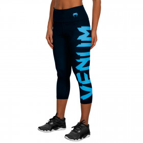 Venum Giant Leggings Crops - Black/Cyan