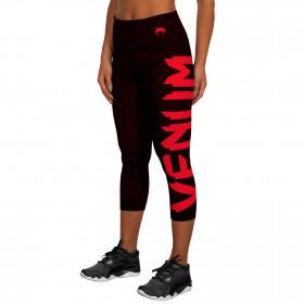 Venum Giant Leggings Crops - Black/Red