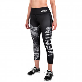 Venum Phoenix Leggings Crops - Black/White - For Women