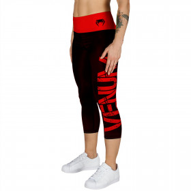 Venum Power Leggings Crops - Black/Red