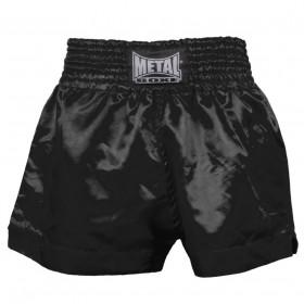 Short Boxe Thaï Metal Boxe - Noir