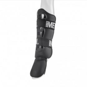 Protège-tibias + pieds détachables Metal Boxe PRO - Noir