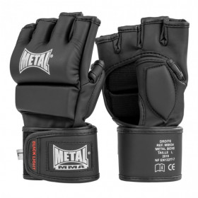 Gants Metal Boxe MMA Noir Black Light